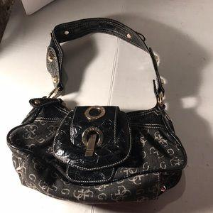 Guess Black/Gray Logo Small Shoulder Bag